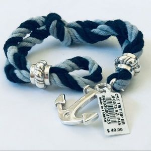 NEW Brighton Coastal Twist Rope Bracelet Navy Blue